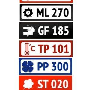 Шильды пластиковые PKB501-PKB599